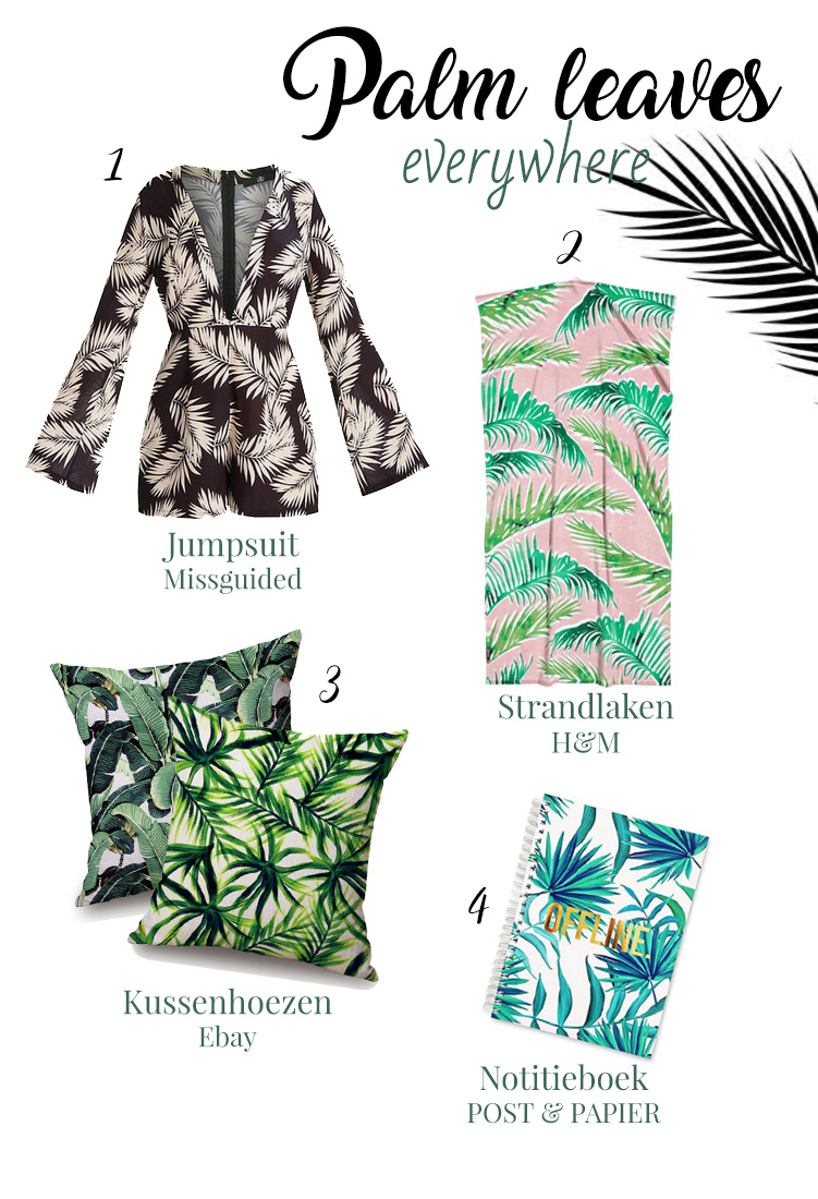Items met palmbladerprint