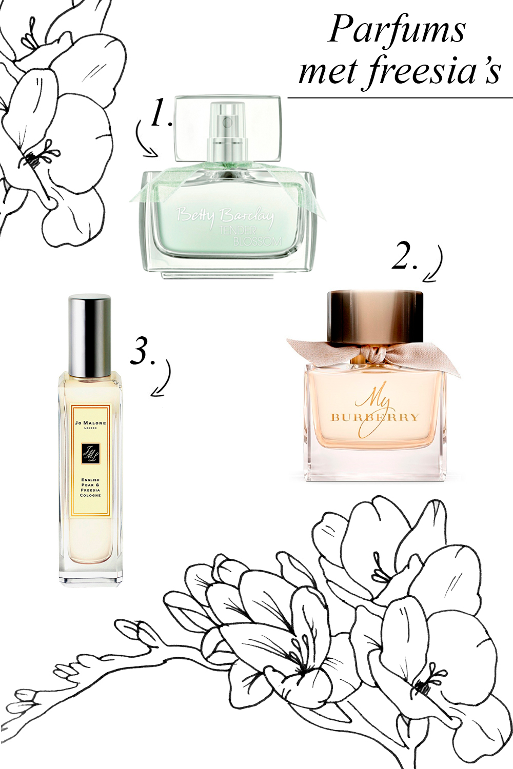 Parfums met freesia