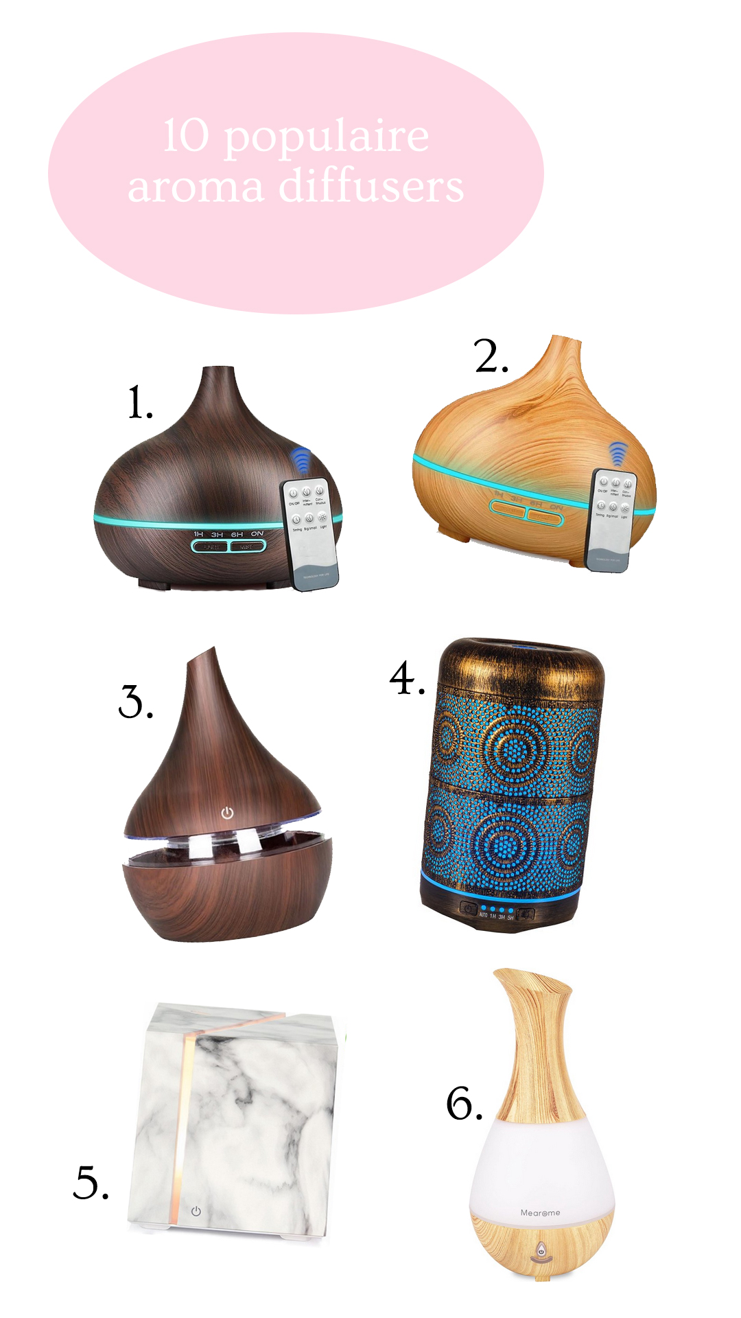 Populaire aroma diffusers